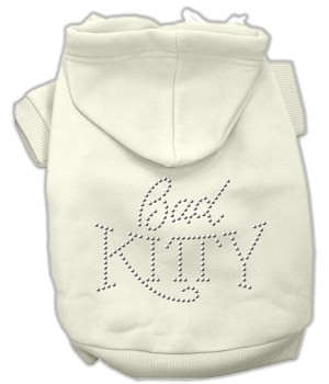 Bad Kitty Rhinestud Hoodie Cream L (14)